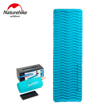 Naturehike Outdoor Ultralight Wave TPU Inflatable Mat Waterproof Camping Sleeping Pad Picnic Folding Mattress Portable Tent Bed