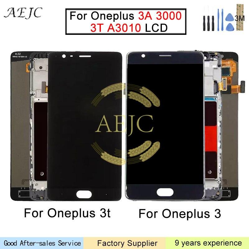 Pour Oneplus 3 t 3 A3010 A3000 LCD Affichage à L'écran Tactile Digitizer assemblée 5.5