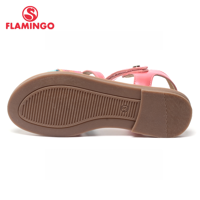 FLAMINGO famous brand 2017 New Arrival Spring & Summer Kids Fashion High Quality sandals for girls 71S-CH-0091