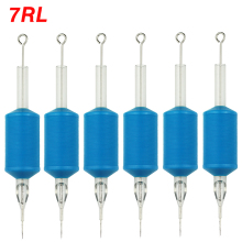 OPHIR 6PCS/Lot 7RL Blue Disposable Tattoo Tube Tips with Nozzle Needles Grip _TA111(5RL)-6x