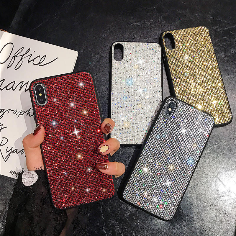 Glitter Case for Samsung Galaxy A50 A40 A70 A10 A20 A30 M10 M20 M30 Luxury Bling Sequins Diamond Phone Case Girl Cover Fundas image