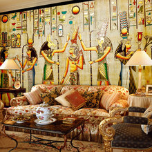 цена на Custom Wall Mural Wallpaper Egyptian Figures Large Wall Murals Living Room Restaurant Bedroom Home Decor Wall Paper Classic 3D