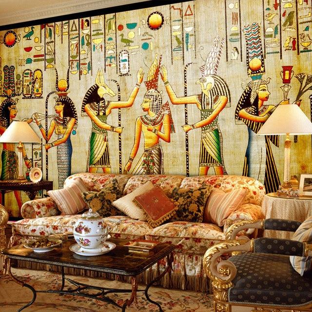 Custom Wall Mural Wallpaper Egyptian Figures Large Wall Murals ...