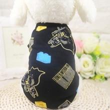 Cute Pet Dog Clothes Soft Summer Cotton Puppy Shirts