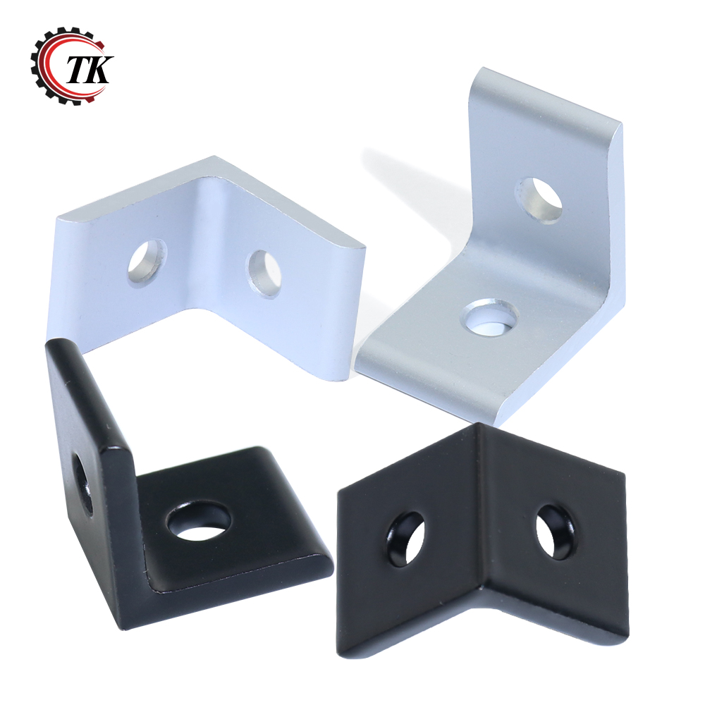 2020 3030 4040 4545 Aluminum Extrusion Profile Aluminum Alloy 2 Hole 90 degreee Inside Corner Bracket 2 hole transition inside corner bracket for 3030 aluminum profile