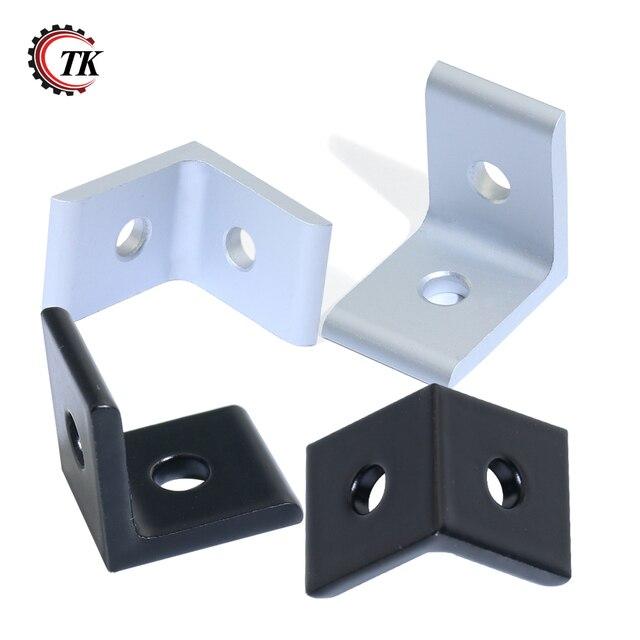2020 3030 4040 4545 Aluminum Extrusion Profile Aluminum Alloy 2 Hole 90 degreee Inside Corner Bracket