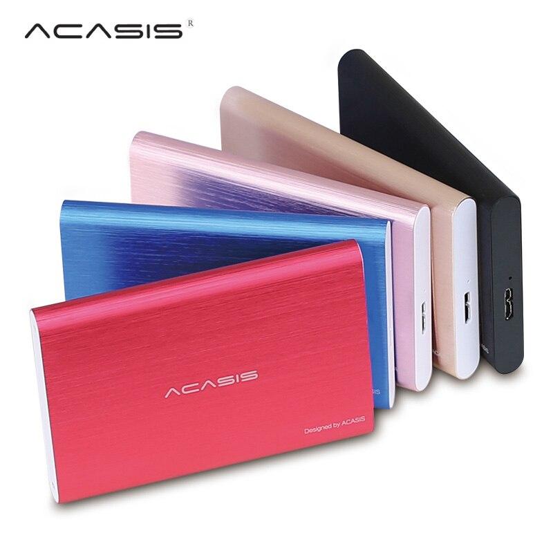 ACASIS 2,5 disco duro externo USB 3,0 de Metal colorido HDD externo portátil HD disco duro para el ordenador portátil de escritorio servidor super ofertas