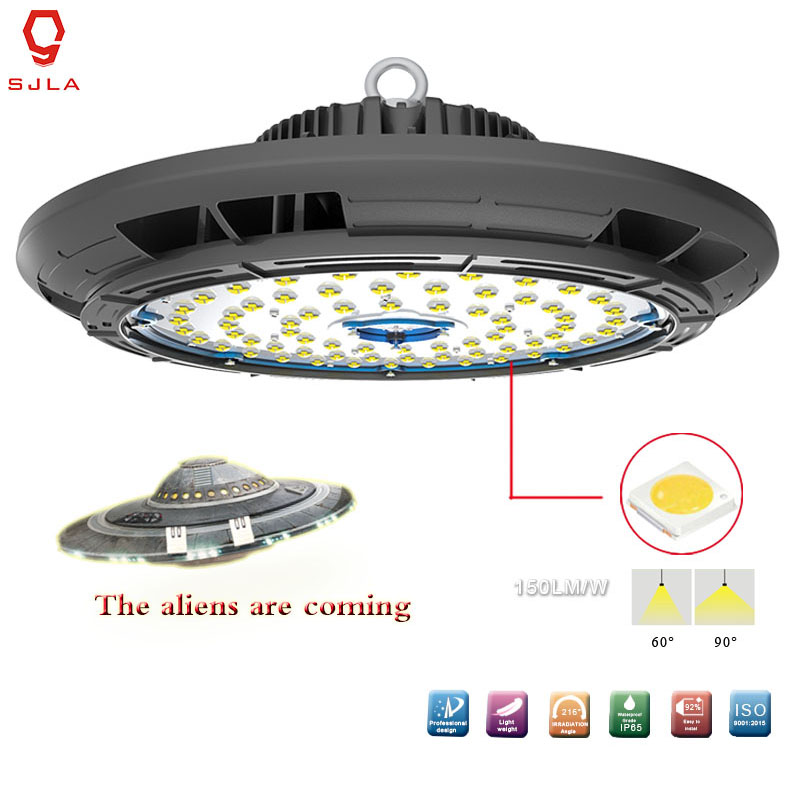 UFO Lamp Waterproof IP65 5 Years Warranty 250W 37500LM Workshop Factory Mining Warehouse Supermarket Led High Bay Light brightinwd ufo high bay light 100w 150w 200w smd2835 high power led floodlight for factory warehouse machine lamp