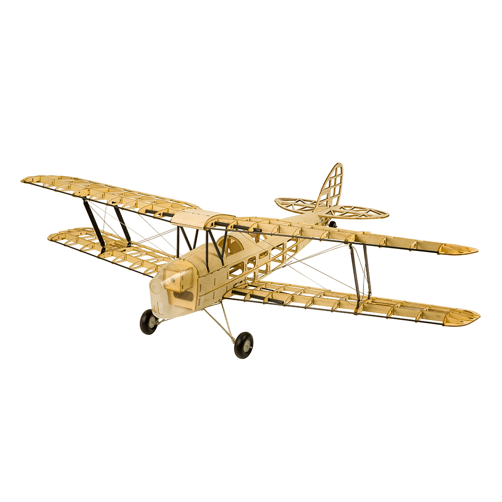 Wood RC Airplane Dancing Wings Hobby S1901 Balsa Tiger Moth Remote Control Biplane Unassembled KIT Version DIY Flying Model 6