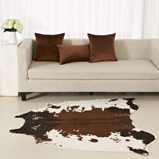 YUSHIMEI Milchkuh Gedruckt Teppich 130X150 Cm Samt Nachahmung Tier Leder Teppiche  Wohnzimmer Fußmatten