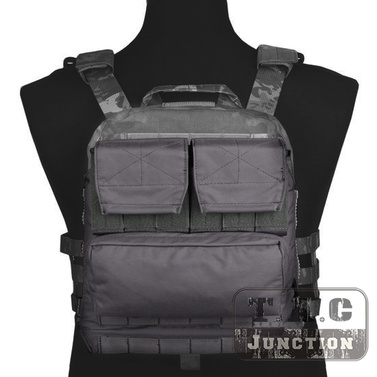 Emerson Tactical Pack Zip-on Panel EmersonGear Plate Carrier Back Bag w/ Mag Pouches for CPC NCPC JPC 2.0 AVS Vest Wolf Grey emerson tactical navy jumpable plate carrier njpc emersongear lightweight combat vest with 5 56 223 triple magazine mag pouches
