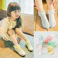 1.19$ /1Pairs  Lace Ruffle Frilly Ankle Short Socks Ladies Princess Girl cotton socks Fruit color socks  6color 1-8yers