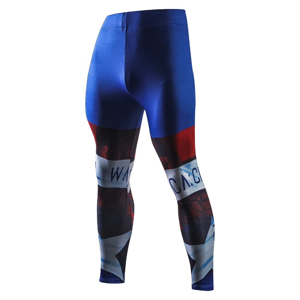 New Captain America Fashion Casual Pants Men 3D Superhero Compression Skinny Pants Crossfit Male Trousers Fitness Leggings Men