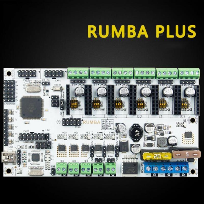 Pour 3D kits d'imprimante Rumba Plus La Carte Mère Pour Atmega2560 Principal tableau de contrôle Soutien 6 A4988 16 Subdivision tableau de bord
