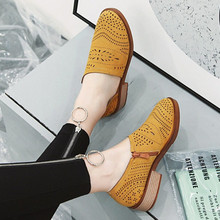 2019 New Breathable Oxford Shoes Women Slip On Flat Shoes Women Summer Casual Platform Shoes Women
