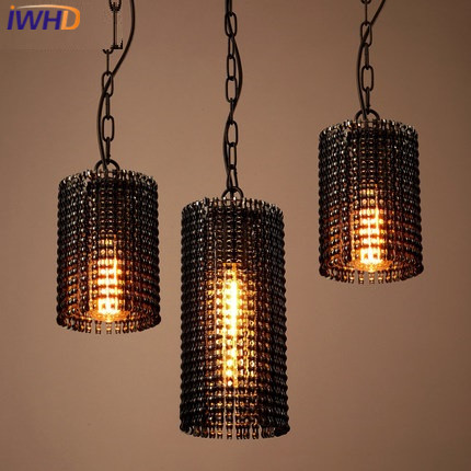 IWHD Retro Vintage Pendant Lights Fixtures Loft Style Iron Industrial Lamp White Black Bedroom Hanglamp Home Lighting Luminaire american retro pendant lights luminaire lamp iron industrial vintage led pendant lighting fixtures bar loft restaurant e27 black