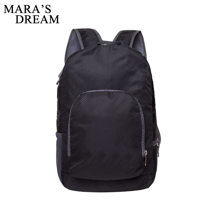 Mara's Dream 2018 Foldable Light Backpack Travel Backpacking Bag Portable Zipper Nylon Back Pack Women Men Bagpack Shoulder Bags