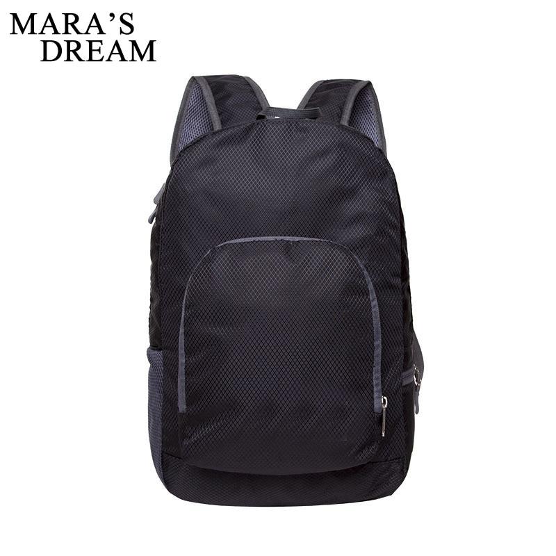 Mara's Dream 2018 Foldable Light Backpack Travel Backpacking Bag Portable Zipper Nylon Back Pack Women Men Bagpack Shoulder Bags backpack men travel bags waterproof nylon backpacks outdoors back pack rucksack sportskin bagpack portable folding waitmoon
