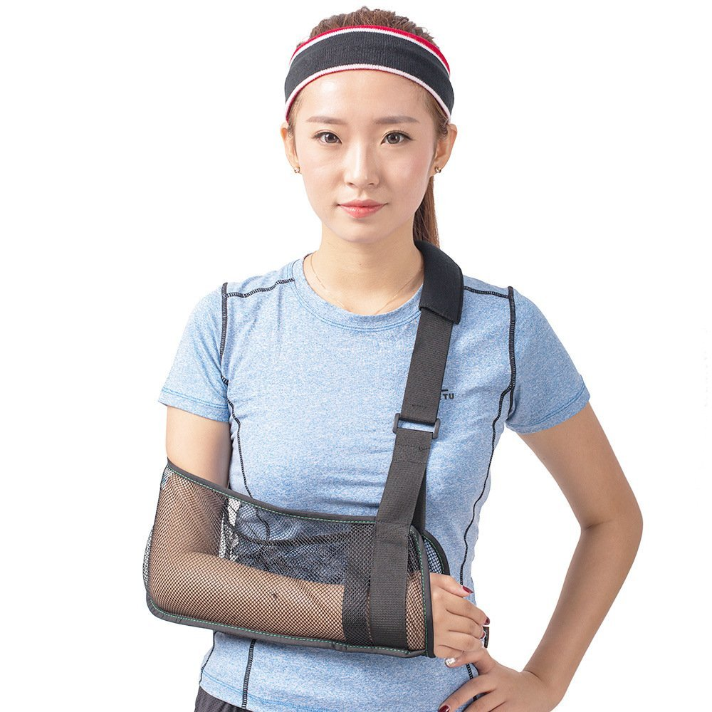 Breathable Mesh Arm Sling Medical Shoulder Immobilizer Rotator Cuff Wrist Elbow Forearm Support Brace Strap Lightweight