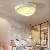 LED Спальня потолочный светильник теплые романтические Творческий Треугольники сторона световой Гостиная балкон проход всасывания Потолоч