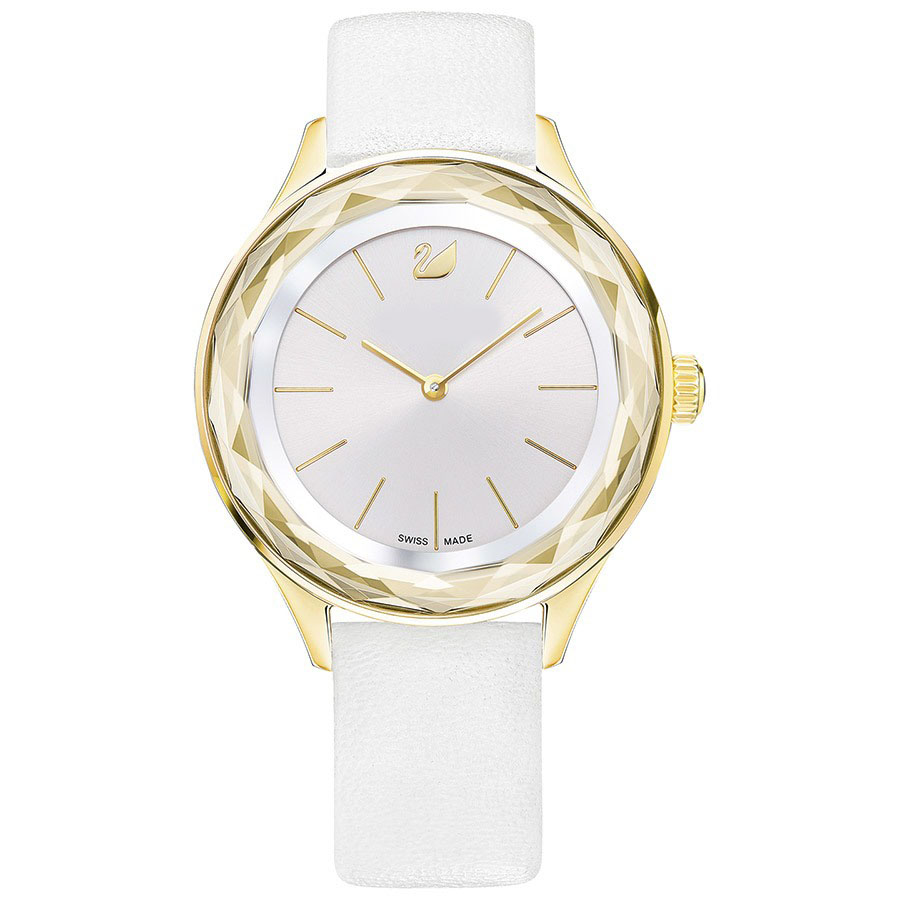 KAKANY 2018 NEW SWAN Original has logo OCTEA NOVA WATCH, LEATHER STRAP, WHITE,BLACK,BULE GOLD TONE birthday gift for women swarovski octea nova 5295349