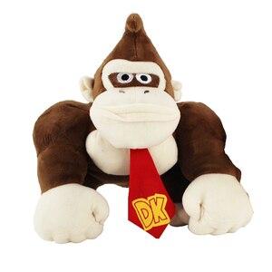 5 шт./лот 25 см Супер Марио Кинг Конг Мягкие плюшевые игрушки Ослик Конг обезьяна животные с биркой Мягкая кукла для детей Подарки