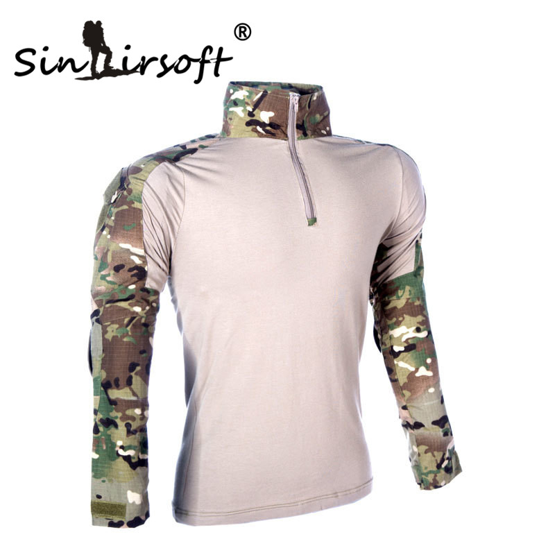 ФОТО Sinairsoft Camouflage military uniform us combat shirt cargo multicam Airsoft paintball militar tactical clothing with knee pads