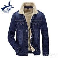 Famous Brand Tace Shark Jacket Men Thicken Warm Denim Jacket High Quality Leisure Autumn Winter Parka