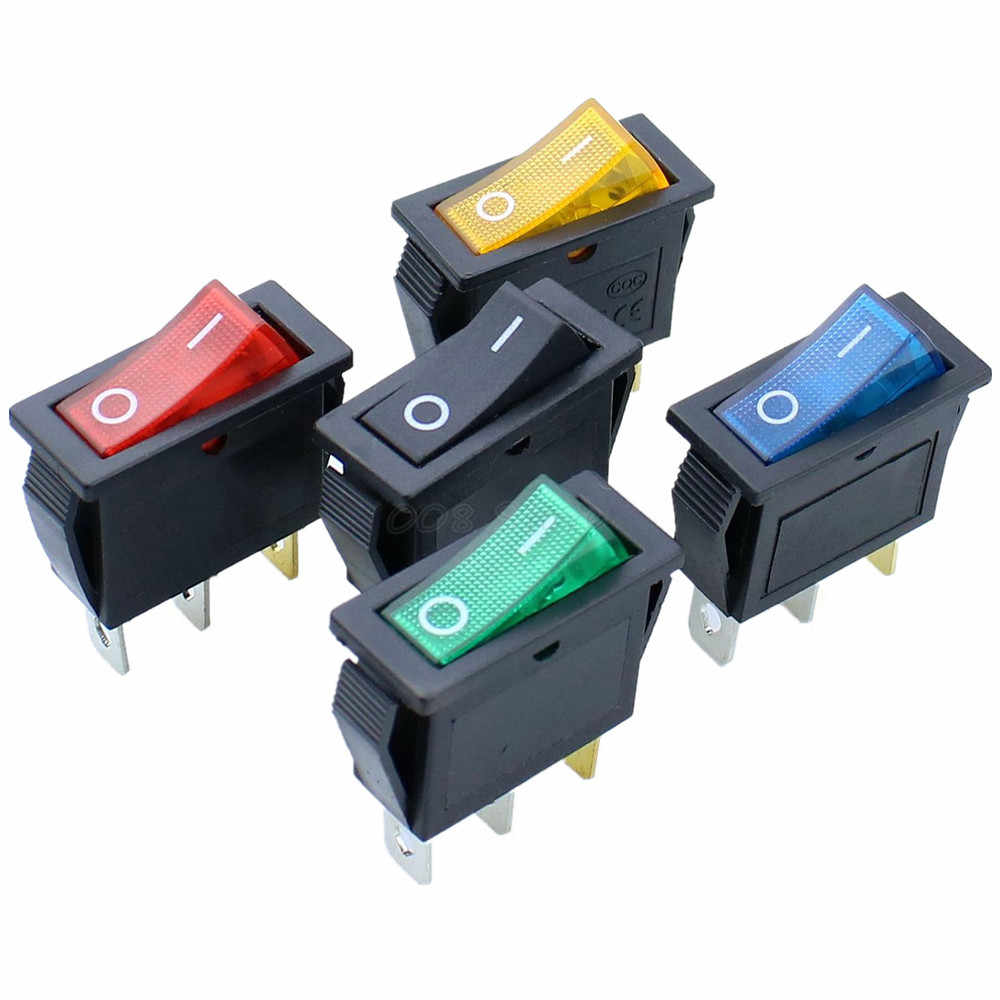 مفتاح هزاز KCD3 يعمل على الإيقاف 3Pin DPST 15A/20A 250 V/125VAC KCD3