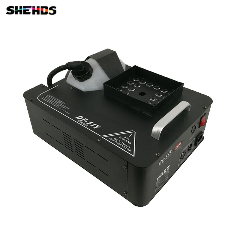 1500W Led Fog Machine 24x3W RGB Color LEDs Smoke Machine Fogger Hazer Equipment for DJ KTV,SHEHDS Stage Lighting