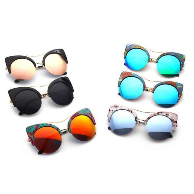 ROYAL GIRL Fashion Cat Eye Sunglasses Women Brand Designer
