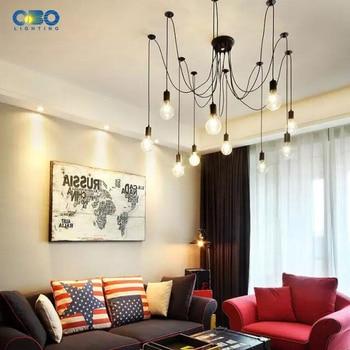 Vintage 8 spots plafond koord - excl. E27 lampen !!! 6