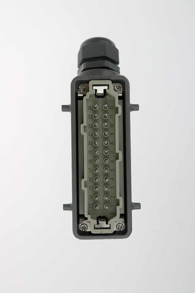 Rechthoekige H16B zware koppeling 24-024-1-1 core connector lijn 16 a500v half de denominator hoofd schroef de luchtvaart plug