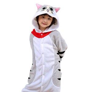 Image 3 - NEW Kids Boys Girls kigurumi Pajamas Set Animal Pegasus Pig Rabbit Pyjamas For Children Flannel Sleepwear Onesie Winter Hooded