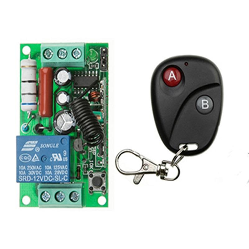 Afstandsbediening Schakelaar AC220V 1CH Verlichting Schakelaars Remote AAN UIT Licht Lamp SMD Power RemoteSwitch Systeem 315/433. 92 MHZ Klink-in Afstandsbedieningen van Consumentenelektronica op  Groep 1