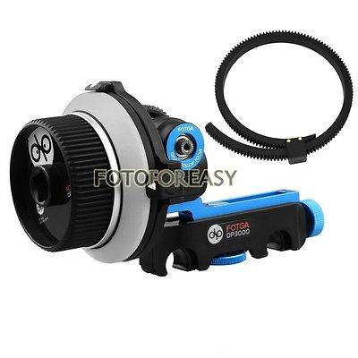 FOTGA DP3000 DSLR Quick Release Clamp Follow Focus for 15mm Rod Rig 5D II III fotga dp500iii adjustable quick release baseplate for 15mm rod dslr camera rig
