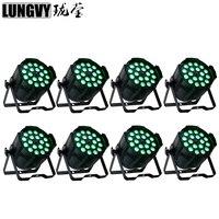 Free Shipping 8pcs/Lot Super Bright Zoom Led Par Light 18x18w RGBWA UV 6IN1 DMX512 Professional Dj Equipment