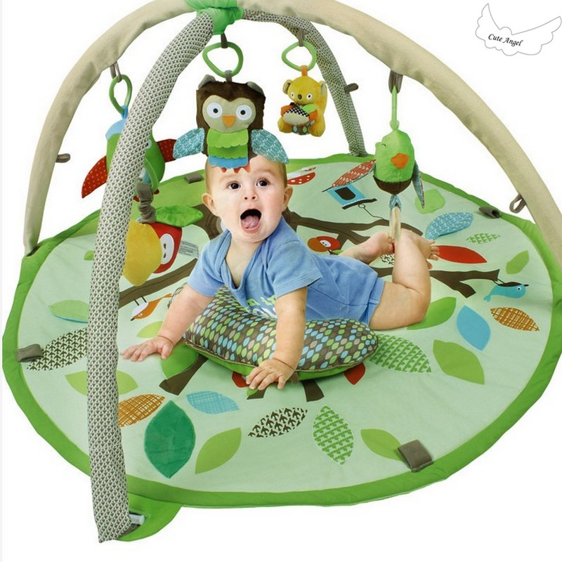 Baby Infant Treetop Design Activity Gym Play Mat Toddler Padded Playmat Carpet, Kids Rug 90*55cm Baby Play Mat Soft Musical Mat