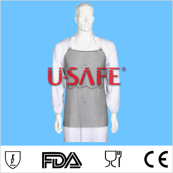 Stainless steel chain mail apron cut resistant level 5 butcher apron butcher