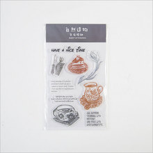Coffee dessert silicone transparent Clear Stamps for scrapbook DIY Photo album Rubber