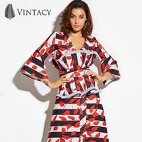 Vintacy 2017 Designer Summer Women Crop Top Women Sleeveless Cropped Red Tank Tops Patchwork Casual Spring