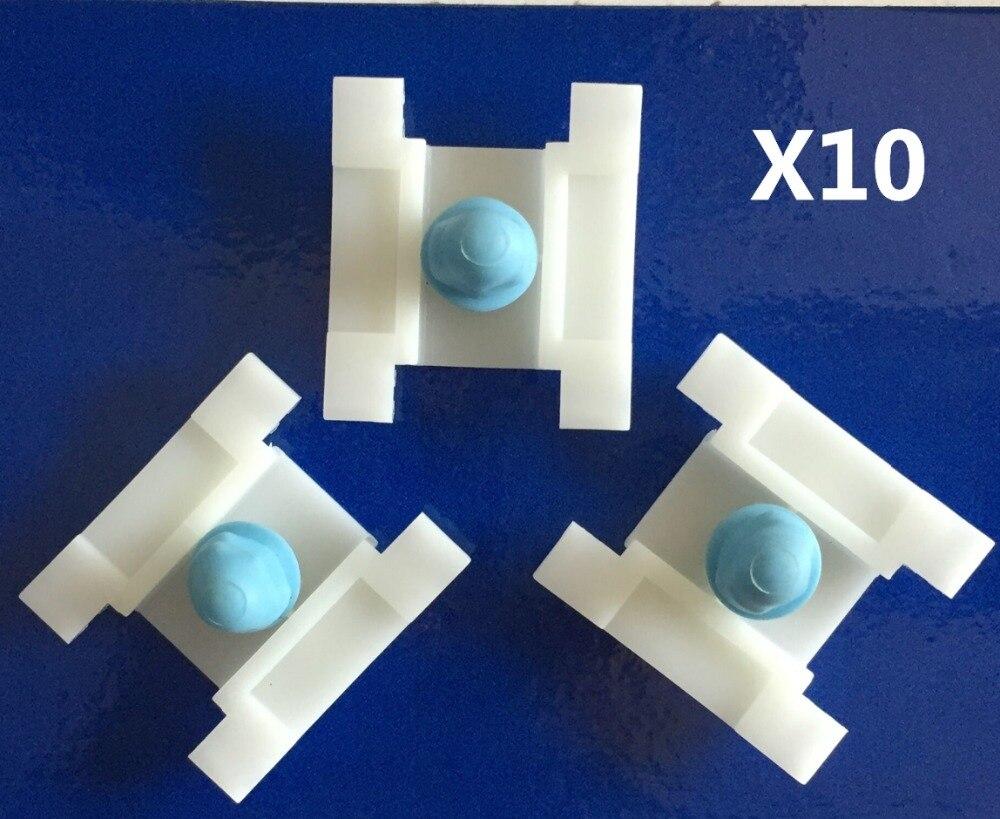 10pcs land rover plastique blanc carte porte garniture panneau clips
