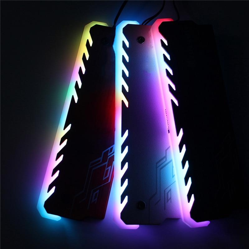 Алюминий Оперативная память охлаждения В виде ракушки радиатора кулер RGB 265 световой эффект памяти coolingi радиатор Glow Desktop памяти охлаждения ж...