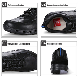 Image 5 - Winter Classic Luxury Genuine Leather Fashion Men Shoes Brand Casual Mens Shoes Lace up Outdoor Non slip Work Safety Trainers
