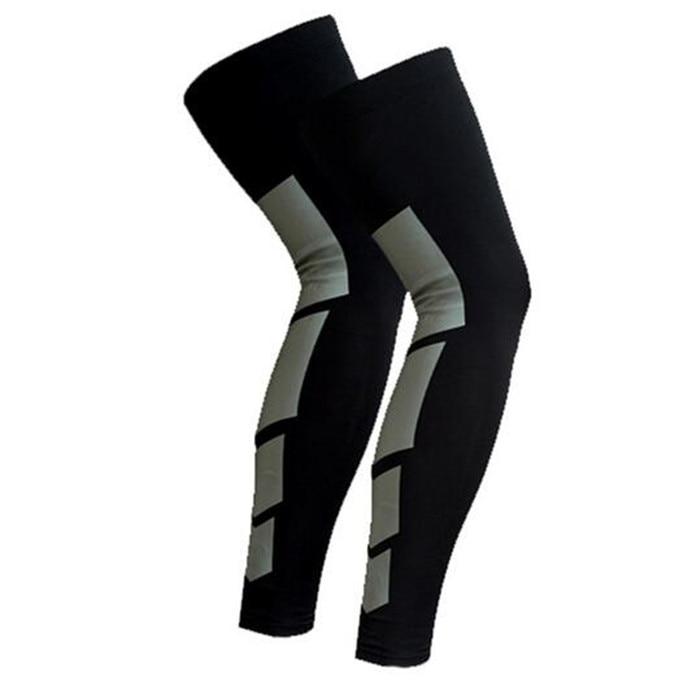 1Pair Super Elastic Lycra Basketball Leg Warmers Calf Thigh Sleeves Knee Support Snowboard Kneepad