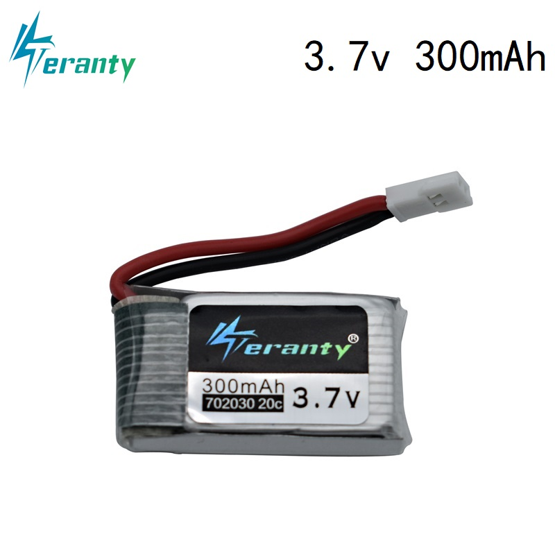 3.7V 300mAh Lipo Battery For JJRC E55 FQ777 FQ17W DFD F180 FY530 U816 U830 Battery 20C 702030 For RC Quadcopter Spare Part