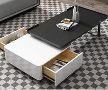 Modern combination tea table Italian simple square high and low tea table modern paint living room small table small apartment. simple tea table tea table balcony leisure small table