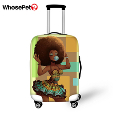 WHOSEPET Travel Luggage Protective Cover African Girls Prints Dust-proof Anti-scratch Suitcase Thick Covers