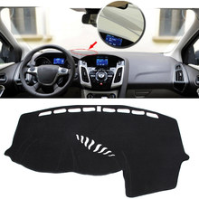 For Left Hand Drive Dashboard Cover Dashmat Dash Mat Pad Sun Shade For 12-16 Focus MK3 rubber mat(China)