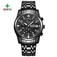 North Watches Men Luxury Brand Chronograph Men Sports Watches Waterproof Full Steel Quartz Men's WristWatch Relogio Masculino